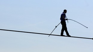 Daredevil set for historic tightrope walk across the Niagara Falls