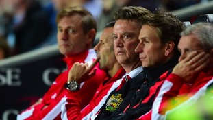 Louis van Gaal's side were thrashed by MK Dons.