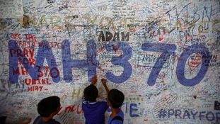 The wall of remembrance created by families of those lost on flight MH370