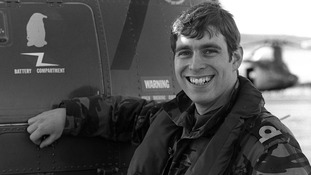 Prince Andrew pictured in August 1982.