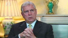 Prince Andrew speaks to Tania Bryer in an interview for US television channel CNBC.