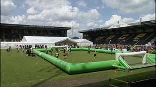 Fun day at Meadow Lane to celebrate the club's 150th anniversary