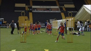 School children have taken part in a fun day to celebrate Notts County's 150th anniversary