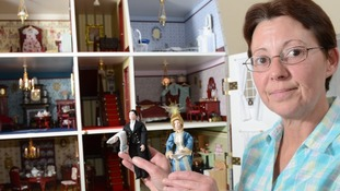 Fiona Gordon, aged 50, spent 18 months decorating the replica manor