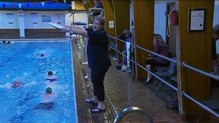 Coach Andrea Manson at Annan Pool