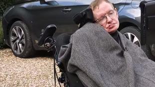 Stephen Hawking takes part in ALS ice bucket challenge
