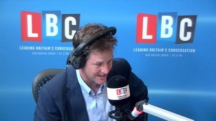 Nick Clegg said Shaun Wright should quit on his radio show 'Call Clegg'.