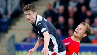 Conor McGrandles in action for Falkirk.