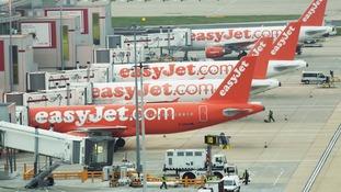 easyJet aircraft at Gatwick