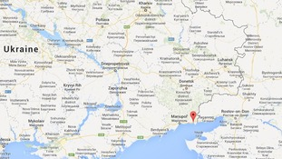 Novoazovsk is located in the south-eastern tip of Ukraine.