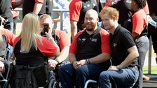Prince Harry and Invictus Games athletes