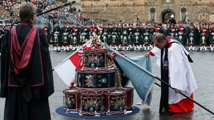 A drumhead service at Edinburgh Castle