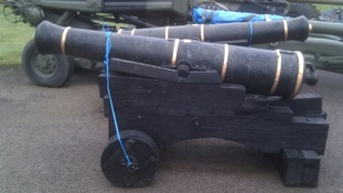 Cannons in storage
