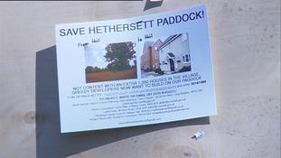 Save Hethersett Paddock poster.
