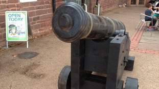 Cannon in new location