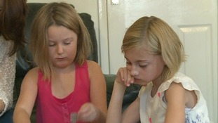 Seven year old Lucy Bluett (left) from Bury St Edmunds was born with heart defects.