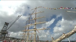 Tall ships come to Falmouth