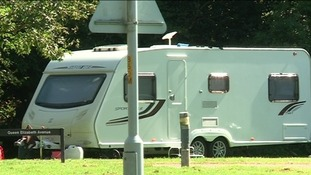 Travellers camp outside Northumberland council