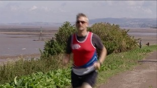 Reverend Haslam has had to abandon his attempt to run the entire 630 miles of the South West Coast Path due to a knee injury