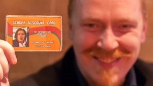 The offer was inspired by Richard Macrae's joke 'Ginger Discount Card'