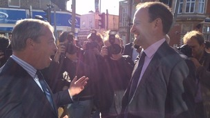 Nigel Farage and Douglas Carswell in Clacton today.