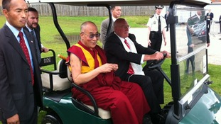 High security in place for the arrival of The Dalai Lama