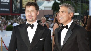 Brad Pitt and George Clooney.