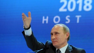 Russia will host the football World Cup in four years' time.