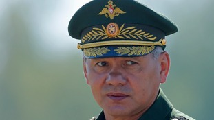Russian Defence Minister Sergei Shoigu was forced to return to Slovakia where he had attended a anti-Nazi ceremony.