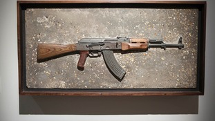 This AK48, which Sam Taylor-Johnson re-fashioned, made £10,000 at a charity auction two years ago.