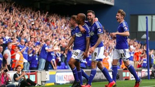 David McGoldrick celebrates scoring against Fulham earlier this season.