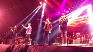 Union J on stage at Blackpool Illuminations