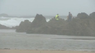 search on Anglesey coast