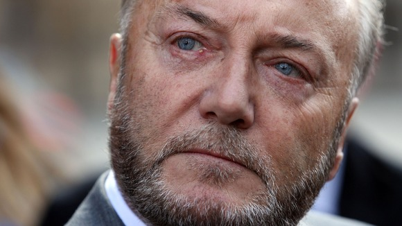 Respect MP George Galloway is in