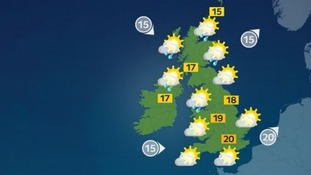 There will be sunny spells for most of the UK.