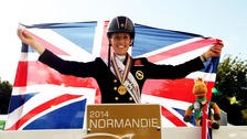 Charlotte Dujardin celebrates