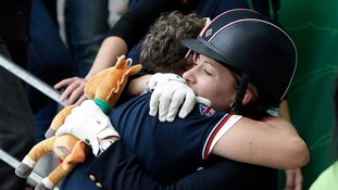 Charlotte Dujardin hugs Carl Hester