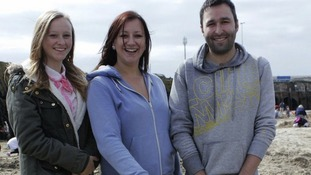 Megan Henderson, Kirsty Henderson and Kevin Wood