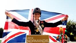Gloucestershire's Dujardin completes freestyle treble