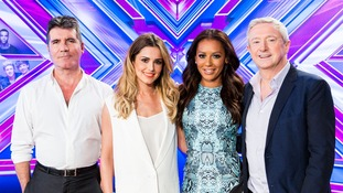 The X-Factor judging panel (L-R): Simon Cowell, Cheryl Fernandez-Versini, Mel B and Louis Walsh