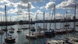 boats in Sunderland Marina