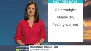 ITV Weather presenter Amanda Houston.