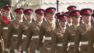 The Duke of Gloucester presented new colours to members of the regiment's three battalions.