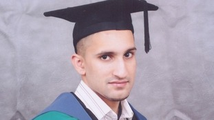 Atif Ali was shot in the leg in Luton.