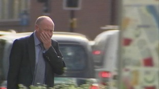 Martyn Berry arrives at court.