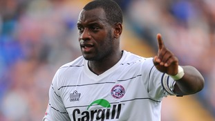 Delroy Facey pictured playing for Hereford United in 2011.