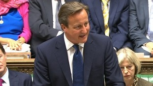 David Cameron talking to the House of Commons