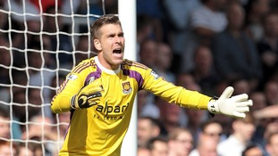 West Ham United's Adrian during the match against Tottenham.
