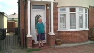 Beryl outside her home in Ipswich