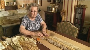 Audrey Rolfe is attempting to weave the world's longest corn dolly